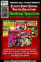 Classic Comic Covers Posters: Skeletal Spectres 3x3 A4 collection 1.