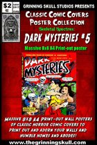 Classic Comic Covers Posters: Skeletal Spectres 8x8: Dark Mysteries #5