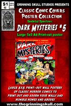 Classic Comic Covers Posters: Skeletal Spectres 5x5: Dark Mysteries #5