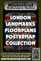 Grinning Skull's Historical Reference Series: London Landmarks Floorplans Postermap Collection.