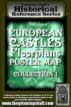 Grinning Skull's Historical Reference Series: European Castles Floorplan Poster Map Collection 1