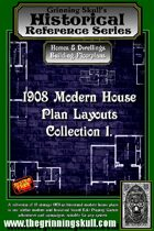 Grinning Skull's Historical reference series: 1908 Modern House Plans Layout Collection 1