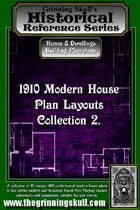 Grinning Skull's Historical reference series: 1910 Modern House Plans Layout Collection 2