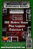 Grinning Skull's Historical reference series: 1916 Modern House Plans Layout Collection 4