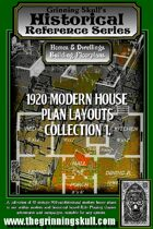 Grinning Skull's Historical reference series: 1920 Modern House Plans Layout Collection 1