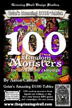 100 Random Monsters for any fantasy RPG campaign.