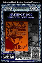 LARP LAB Historical Reference: 1920 Seed/Garden Catalogue