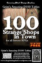 100 Strange Shops in Town for all fantasy RPGs