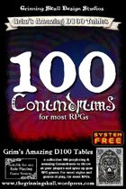 100 Conundrums for most RPGs