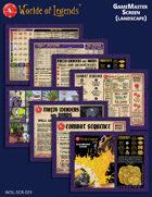 Worlde of Legends™ SCREEN: LITE GameMaster Screen Inserts (Landscape)
