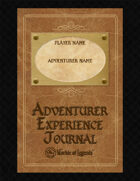 Worlde of Legends™ SUPPLEMENT: Adventurer's Experience Journal