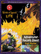 Worlde of Legends™ ADVENTURER SHEET: LITE Fillable PDF - Staff Mastery