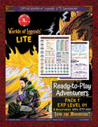 Worlde of Legends™ ADVENTURERS: Ready-to-Play Adventuers Pack 1 (Exp Lvl 01)