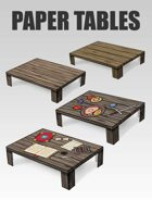 3D Paper Tables | Papercraft objects and paper miniatures