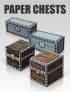 3D Paper Chests | Papercraft objects and paper miniatures