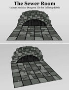 Sewer Room | Unique Modular Dungeon Tile