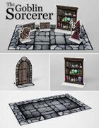 The Goblin Sorcerer | Paper Model Diorama for Tabletop RPGs