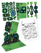Modular Forest Accessories Kit for tabletop RPGs