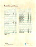 More Artisan's Tools