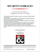 Dwarven Subraces: 4 new options for your dwarf PC