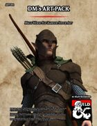ART001 Male Wood Elf Ranger Stock Art