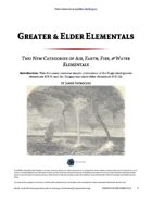 Greater & Elder Elementals - World Builder Blog Presents