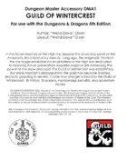 DMA1 Guild of Wintercrest