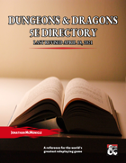 Dungeons & Dragons 5e Directory