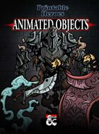 Animated Objects Paper Miniatures