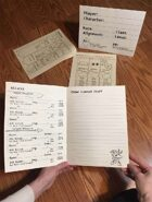 Large Text Character Sheets/Table Tent