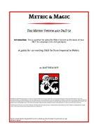 Metric & Magic: The Metric System and 5e