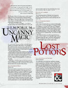 The Emporium of Uncanny Magic — Lost Potions