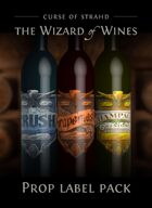 The Wizard of Wines prop label artwork
