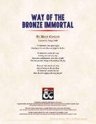 Monastic Tradition: Way of the Bronze Immortal