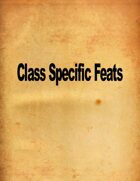 41 Class Specific Feats