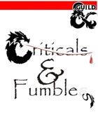 5E Player critical hits & fumbles