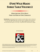 (Fun) Wild Magic Surge Table Vol. 2