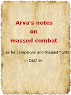 Arva's reflections on Massed Combat