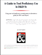 A Guide to Tool Proficiency Use in D&D 5e