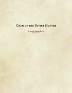 Paladin - Oath of the Divine Hunter