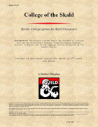 College of the Skald - Bard
