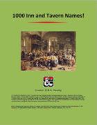 1000 Inn and Tavern Names