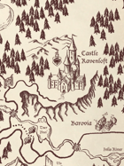 Barovia Hand Drawn Maps