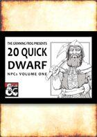 20 Quick Dwarf NPCs
