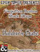 Baldur's Gate - Forgotten Realms Stock Maps
