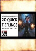 20 Quick Tiefling NPCs