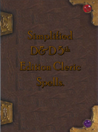 Simplified 5e Cleric Spellbook