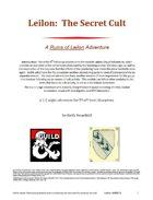 Leilon: The Secret Cult