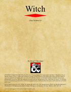 Witch Class (D&D 5e)