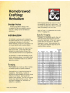 Homebrewed Crafting - Herbalism